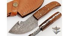 """Damascus Skinner 7.5"""" Hunting Skinning Knife"""