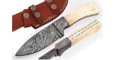 Handmade Small Damascus Steel Hunting Knife - GladiatorsGuild