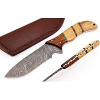 "Handmade Custom Damascus Steel 12"" Hunting Knife"