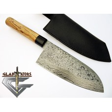Damascus Chef Knife w/ Wood Handle