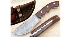 Custom Damascus Steel Tracker Knife by Gladiators H-47