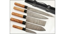 5 Pcs Damascus Kitchen Knife Set