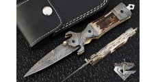 Cool Damascus Steel Folding Pocket Knife 5511S
